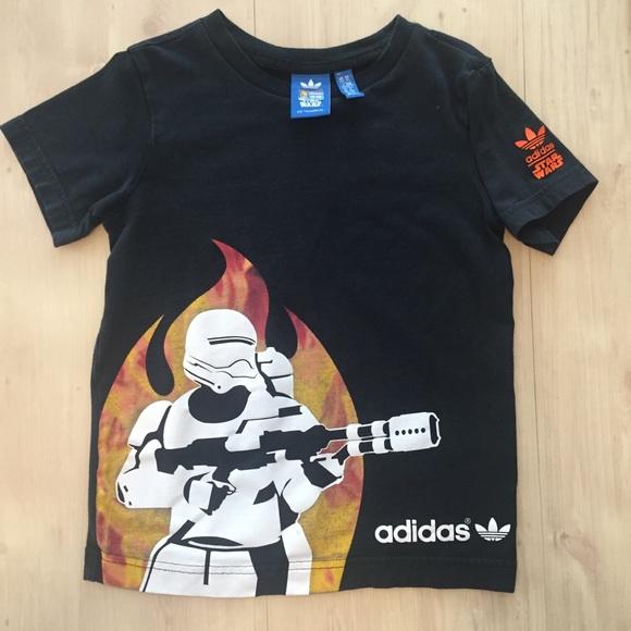 d9081d9b73e adidas Other - Star Wars Adidas Stormtrooper T Shirt Boys Sz 7 8